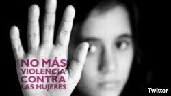 No más violencia contra las mujeres. (Aulas Abiertas/Twitter)