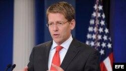 El portavoz de la Casa Blanca, Jay Carney.