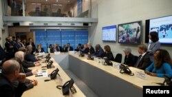 Antonio Guterres en una reunión especial sobre le Coronavirus.