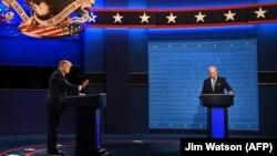 El primer debate presidencial de Estados Unidos en el 2020. El presidente Donald Trump y su rival, Joe Biden. (Jim Watson / AFP).