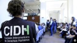 La Comisión Interamericana de Derechos Humanos en acción.