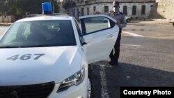 Presencia policial en Cuba.