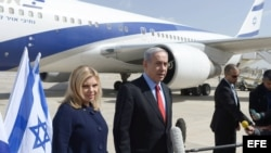 Netanyahu sale para Estados Unidos en visita de 48 horas.