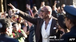 El actor Dwayne Johnson durante la premier en Hollywood de Boot & Shawn