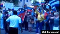 Exilio cubano y venezolano piden en Miami renuncia de Maduro