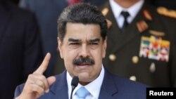 Nicolás Maduro durante una conferencia de prensa en Caracas.