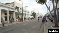 Calles de Palma Soriano, en Santiago de Cuba.