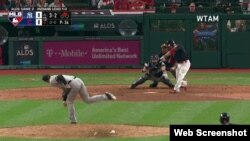 Yan Gomes pegó un hit y dejó al campo a los Yankees.