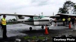 Archivo - Avioneta decomisada en Ecuador