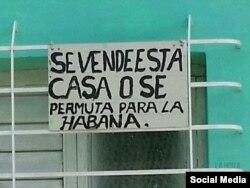 Anuncio de una permuta tomada de La Hora de Cuba (Foto: Archivo).