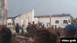 Tornado en Palma Soriano. Captura de un video publicado por ADN Cuba.