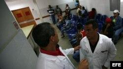 Médicos cubanos en Caracas, Venezuela.
