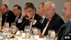 El ministro de Asuntos Exteriores de España, José Manuel García-Margallo, desayunó el jueves con los cancilleres latinoamericanos.
