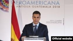 Pedro Sánchez, durante la Cumbre Iberoamericana celebrada en Guatemala.