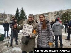 Manifestación en apoyo a la periodista