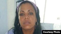 Jackeline Heredia Morales, detenida en la prisión San José, La Habana. Cortesía Serafín Morán.