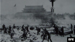 La masacre de Tiananmen.