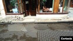 Registro de agua en la Calle Obispo La Habana