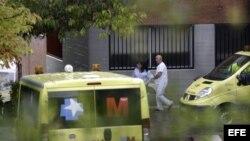 Traslado de pacientes del Hospital Carlos III, Madrid.