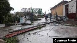 Sagua La Grande tras el paso de Irma. Facebook de Carlos Alejandro Rodríguez