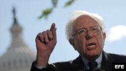 Foto de archivo del senador estadounidense, Bernie Sanders.