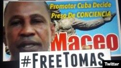 Uno de los carteles de la campaña a favor de la liberación de Tomás Núñez Magdariaga.