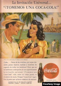 Un anuncio de Coca Cola.
