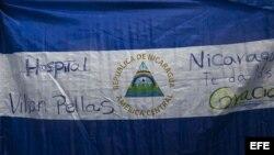 Bandera de Nicaragua con un mensaje de agradecimiento