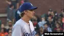 El lanzador de los Dodgers, Zack Greinke.
