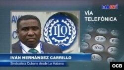 Iván Hernández Carrillo, titular de la Asociación Sindical Independiente de Cuba, ASIC.
