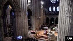 Servicio funeral a senador John McCain en la Catedral Nacional en Washington