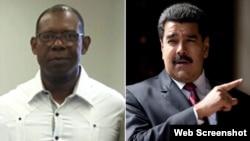 Manuel Ricardo Cristopher Figuera y Nicolás Maduro. (Infobae)