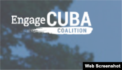 Logo de Engage Cuba.