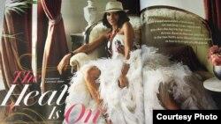"""Foto de portada del artículo """"The Heat is on"""" de la revista """"O""""."""