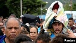 Refugiados venezolanos en Colombia.