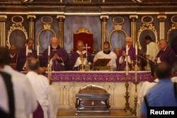 Misa de exequias del cardenal Jaime Ortega en la Catedral de La Habana.