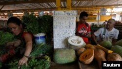 Un agromercado en La Habana. REUTERS/Stringer