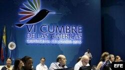 Fotografía cedida por la cancillería de Colombia, durante una reunión que contó con la presencia de 17 cancilleres de las Américas y los jefes de delegación de los países en Cartagena de Indias (Colombia). La reunión tuvo como propósito revisar la declara