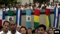 Estudiantes latinoamericanos de Medicina en Cuba. Archivo.