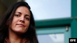 La activista cubana por la libertad y los derechos humanos, Rosa María Payá, hija del fallecido disidente cubano Osvaldo Payá