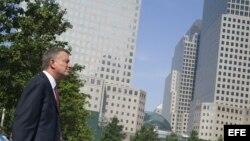 El candidato a la Alcaldía de Nueva York, el demócrata Bill de Blasio.