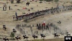 Conmemoración de la batalla del 5 de mayo de 1862 en los fuertes de Loreto y Guadalupe, en Puebla.