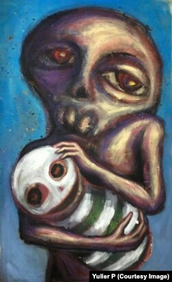 Acrílico sobre lienzo, de Yulier P