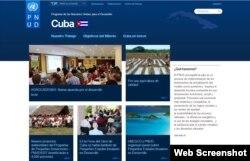 Página web del PNUD en Cuba