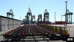 Vista de la terminal de contenedores del puerto del Mariel, construida por la brasileña Odebrecht con una financiación de 682 millones de dólares del Banco Nacional de Desarrollo Económico y Social (BNDES) de Brasil.