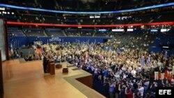 La audiencia de la Convención Nacional Republicana en el Tampa Bay Times Forum.