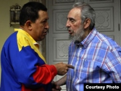 Castro y Chávez.