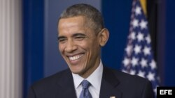 El presidente estadounidense Barack Obama, en rueda de prensa en la Casa Blanca el 19 de diciembre del 2014.