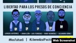 Imagen de la campaña de Amnistía Internacional por los activistas detenidos en Venezuela (Twitter).
