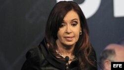 La presidenta Cristina Fernández de Kirchner anunció el proyecto de reforma judicial acompañada de su gabinete en la Casa Rosada.